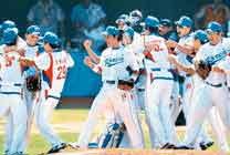 한국 야구 일본 격침