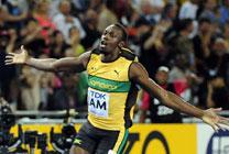 볼트 100m 개인 시즌 최고기록으로 우승